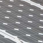 Detail of the solar cells.